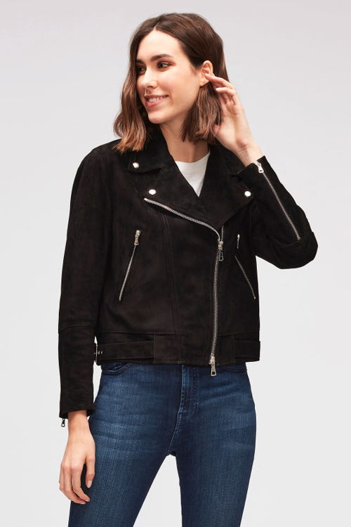 SUEDE JACKET SUEDE BLACK