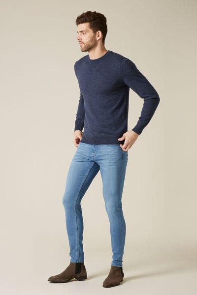 7 For All Mankind - Ronnie Tapered Luxe Performance Plus Light Blue