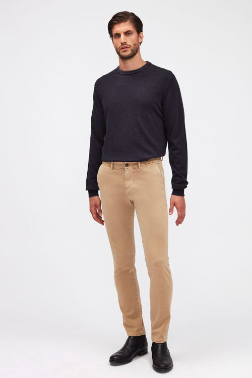 SLIMMY CHINO TAPERED LUXE PERFORMANCE SATEEN VINTAGE SANDCASTLE