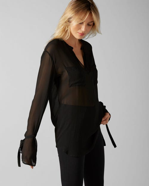 7 For All Mankind - Blouse Silk Black