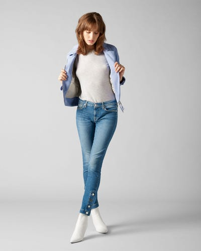 7 For All Mankind - Pyper Vintage Robertson With Hem Snaps