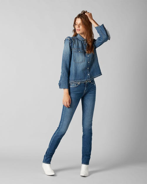 7 For All Mankind - Mid Rise Roxanne Vintage Sycamore