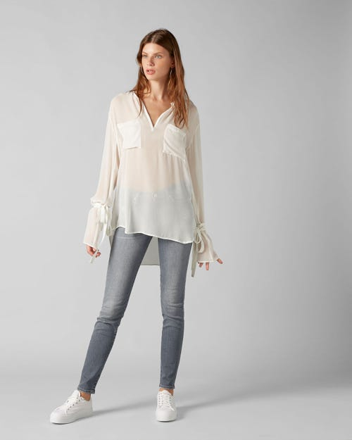 7 For All Mankind - The Skinny Slim Illusion Wilshire With Embellishment