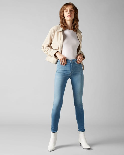 7 for all Mankind - HIGH WAIST SKINNY SLIM ILLUSION LUXE FAIRFAX
