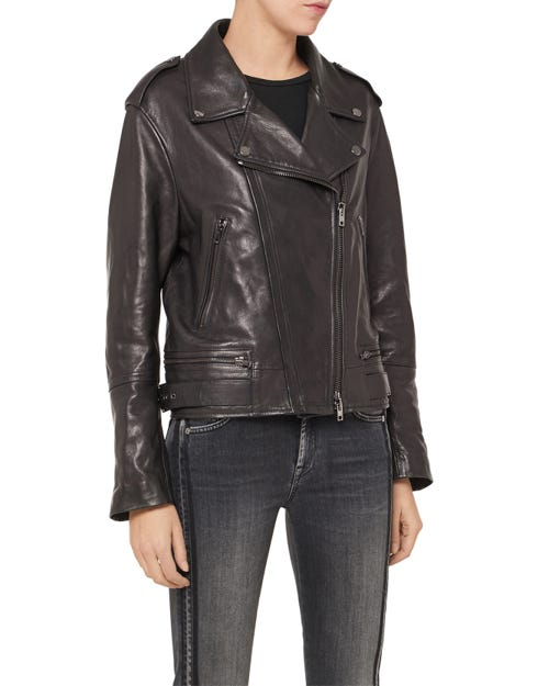 MOTO JACKET LEATHER BLACK