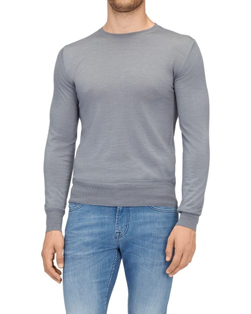 CREW NECK KNIT CASHMERE GREY