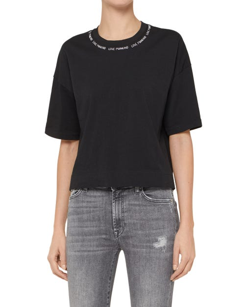 7 For All Mankind - T-Shirt Cotton Black