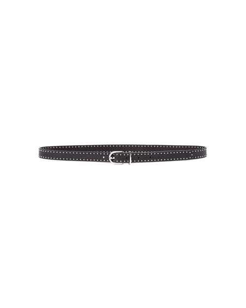 7 For All Mankind - Line Studded Belt Leather Black