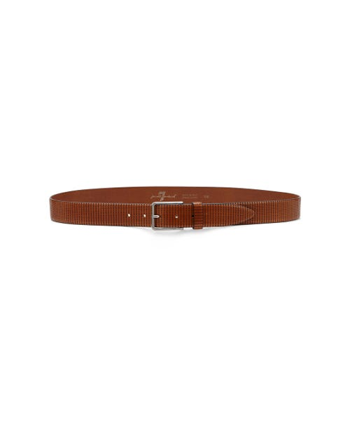 LASERED BELT COGNAC