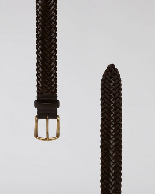 7 For All Mankind - Braided Belt Leather
