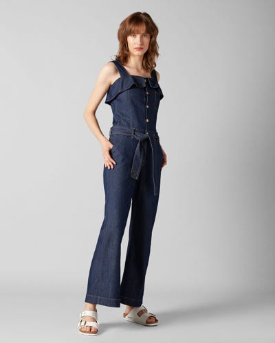 1bb91cb0167 7 For All Mankind - Overall Topanga Rinse Indigo With Ruffles