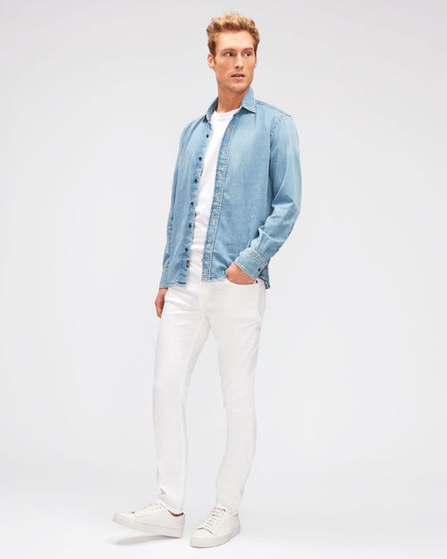 7 for all Mankind - RONNIE LUXE PERFORMANCE WHITE