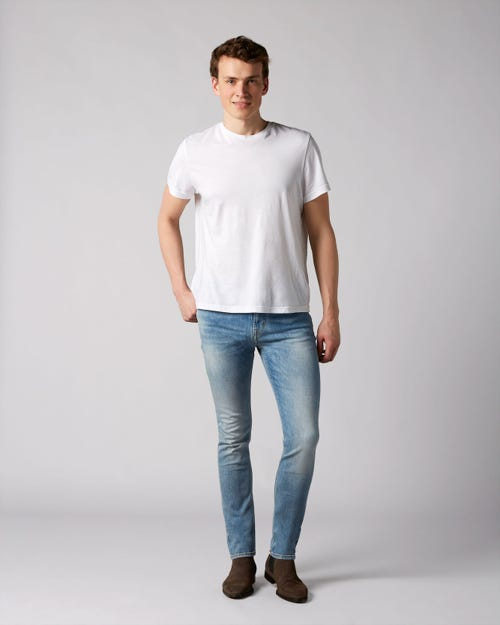 7 For All Mankind - Ronnie Left Hand Cotillo Light Blue With Amf
