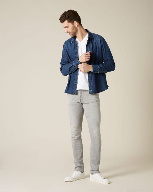 7 For All Mankind - Ronnie Weightless Kuta Light Grey