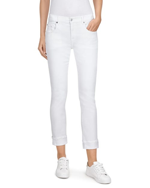 7 For All Mankind - Relaxed Skinny Slim Illusion Pure White