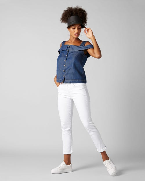 7 for all Mankind - ASHER SLIM ILLUSION PURE WHITE