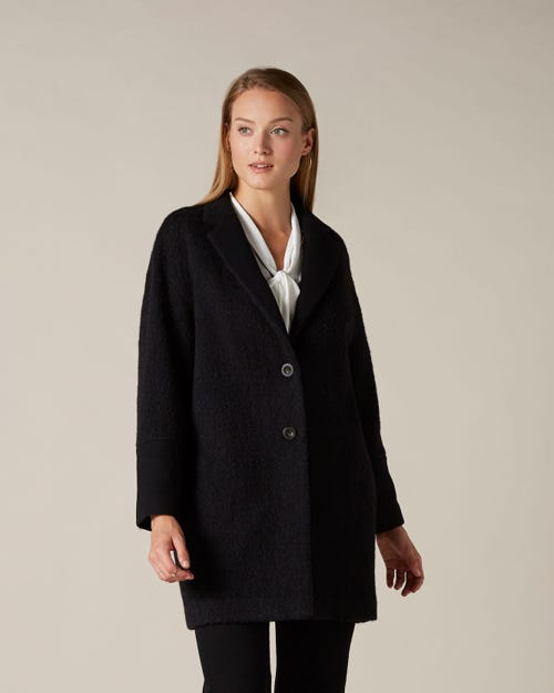 COAT COCOON BLACK
