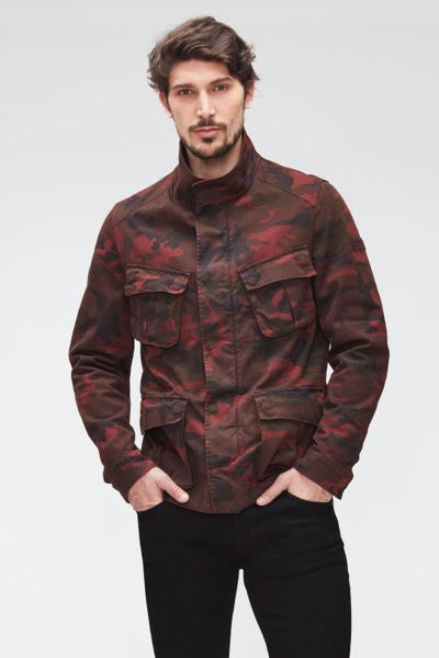 FIELD JACKET CAMOUFLAGE  BURGUNDY