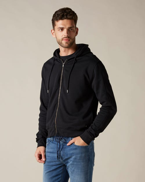 HOODIE ZIP FLEECE BLACK