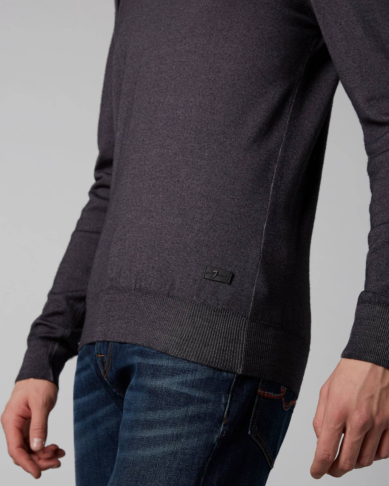 CREW NECK KNIT WOOL MERINO GREY