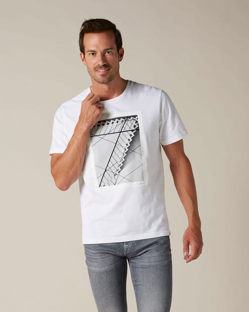 GRAPHIC TEE COTTON 7 STAIRCASE WHITE