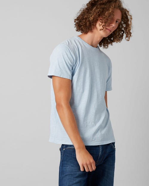 7 For All Mankind - T-Shirt Slub Fade Blue Chill