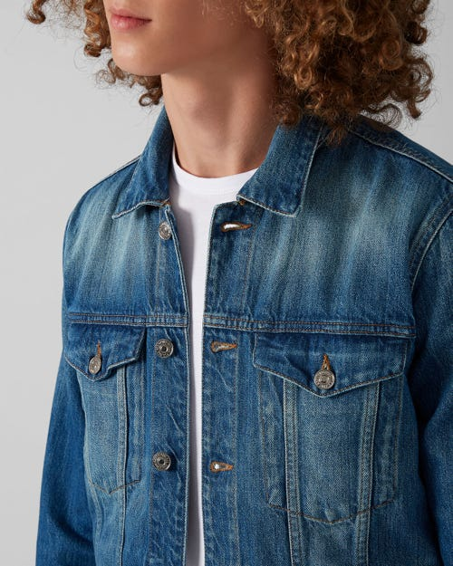 TRUCKER JACKET BELLS BEACH BLUE
