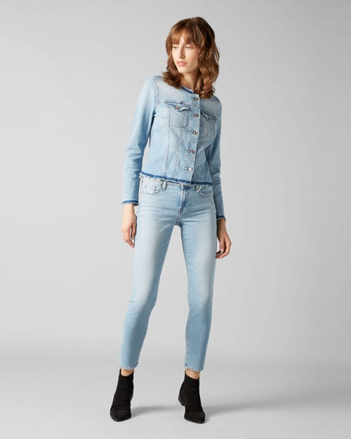7 for all Mankind - PYPER CROP LUXE VINTAGE MONTEREY