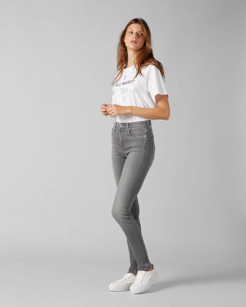 7 For All Mankind - High Waist Pyper Slim Illusion Luxe Overland
