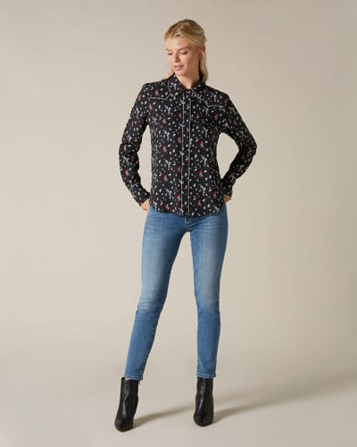 PYPER CROP SLIM ILLUSION HEARTFELT WITH EMBELLISHED SQUIGGLE