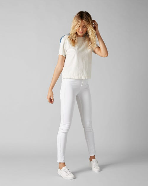 HW PYPER CROP SLIM ILLUSION PURE WHITE