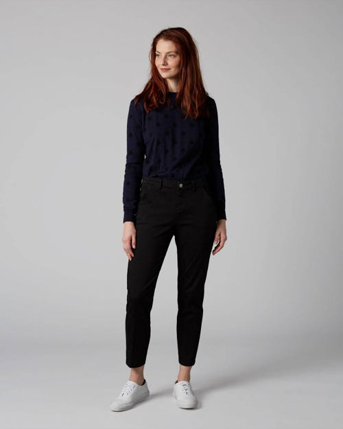 7 For All Mankind - Chino Sateen Black