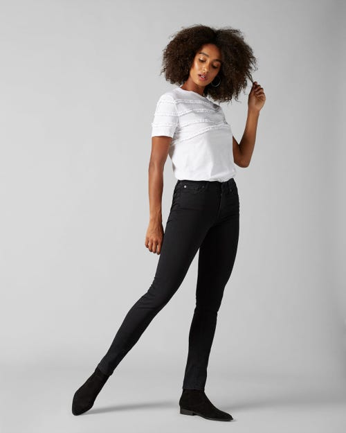 7 For All Mankind - Mid Rise Roxanne Slim Illusion Luxe Gravity