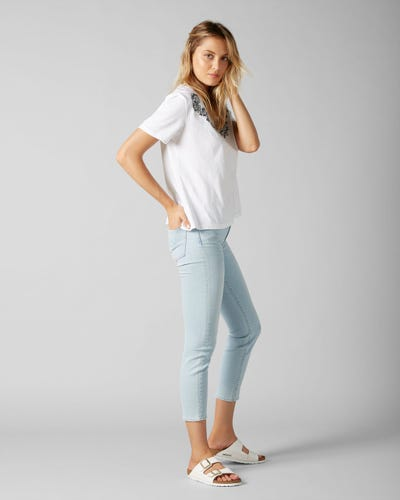 MID RISE ROXANNE CROP SLIM ILLUSION SAN CLAMENTE