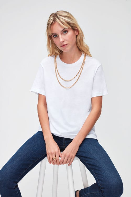 CHAINED TEE CUTIL  WHITE