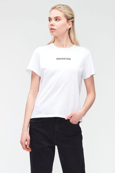 MANKIND TEE COTTON PRINTED MANKIND WHITE