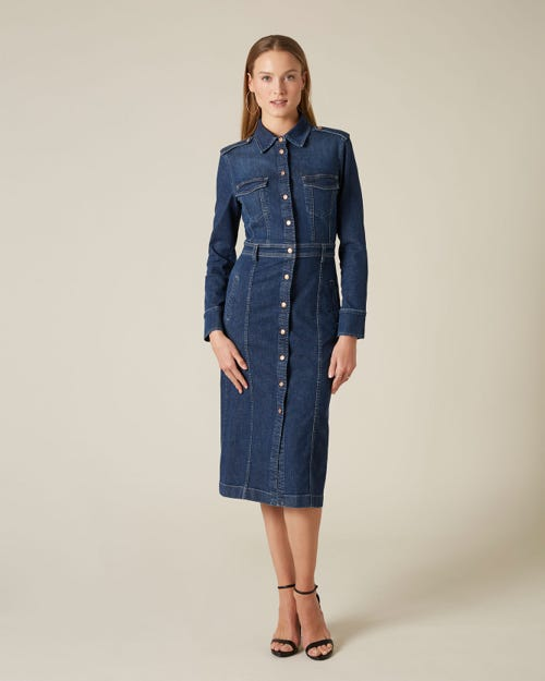 LUXE DRESS MID INDIGO