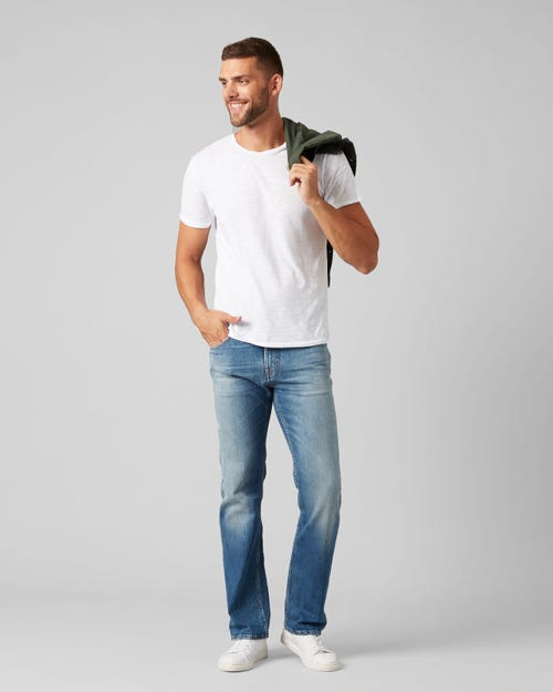 7 For All Mankind - Standard Special Edition Brodway Mid Blue With Embellishment