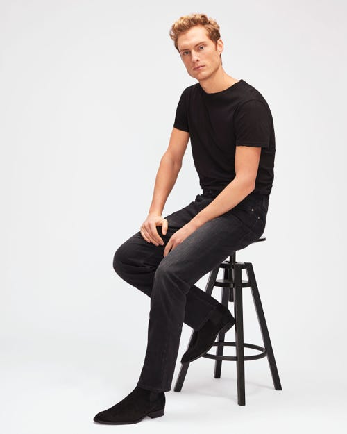 7 For All Mankind - Standard Weightless Kuta Washed Black