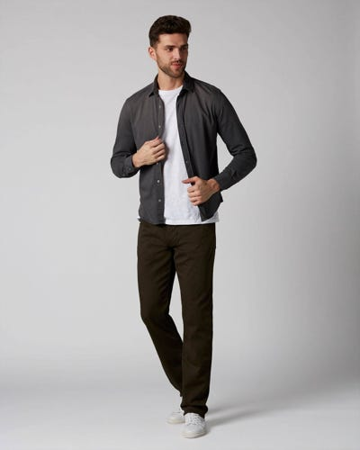 7 For All Mankind - Slimmy Luxe Performance Color Forest Night Dark Army
