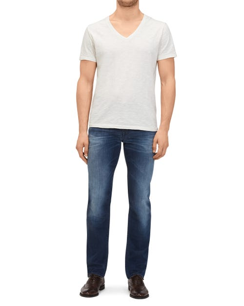 7 for all Mankind - SLIMMY LUXE PERFORMANCE VINTAGE MID BLUE