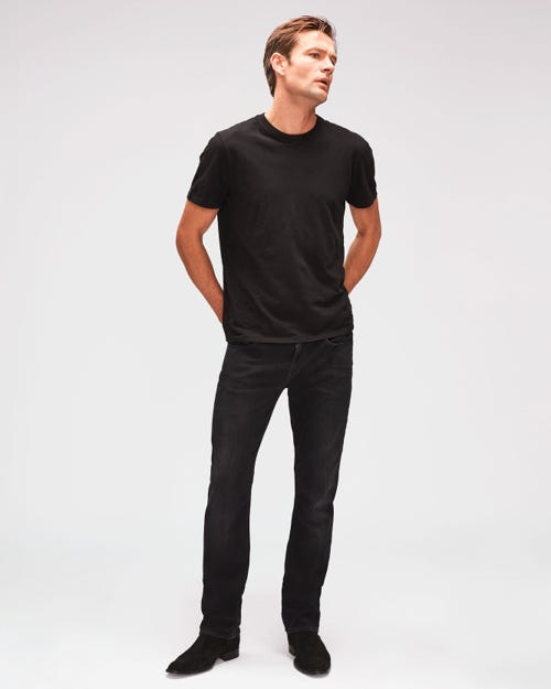 7 For All Mankind - Slimmy Weightless Kuta Washed Black