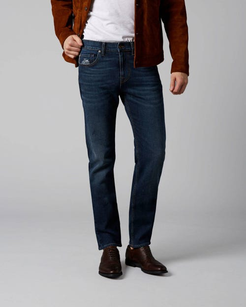 7 For All Mankind - Kayden Plucky Dark Blue With Embro Detail