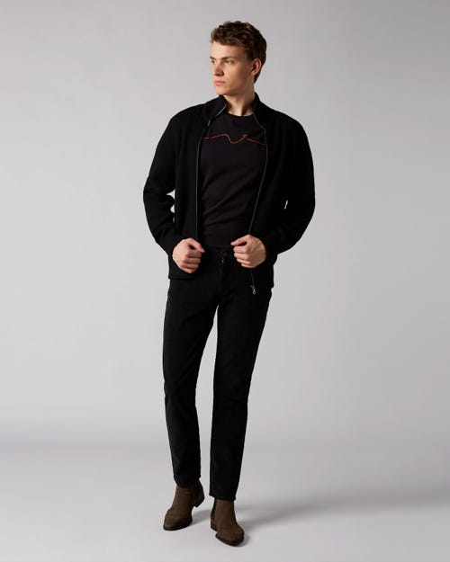 7 For All Mankind - Slimmy Tapered Corduroy Color Black