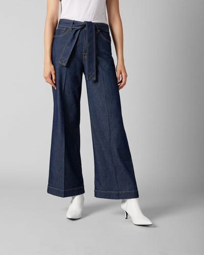 LOTTA CROPPED TOPANGA RINSE INDIGO WITH BELT