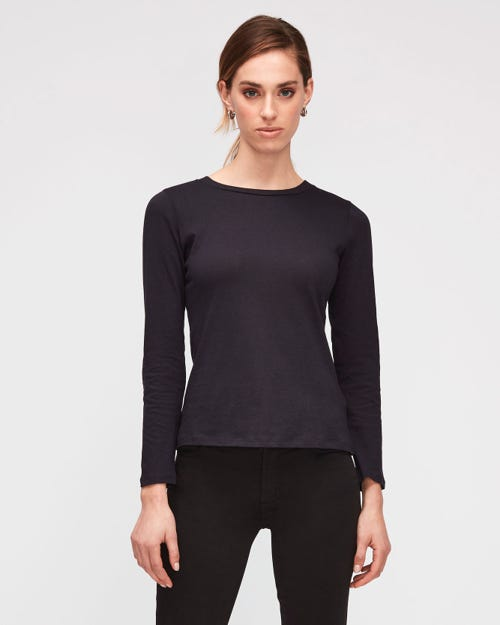 CASHMERE L/S TEE CASHMERE NAVY