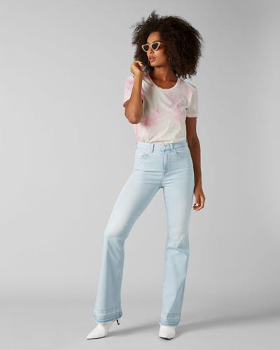7 For All Mankind - Lisha Unrolled Slim Illusion San Clamente