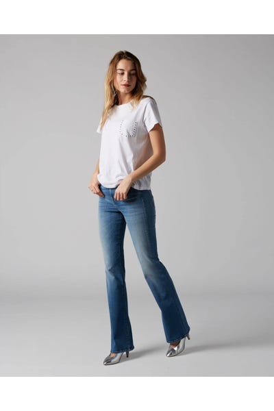 7 For All Mankind - Lisha Slim Illusion Heartfelt