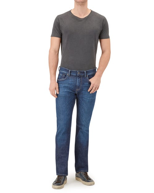 7 For All Mankind - The Straight Wavecrest Dark Blue