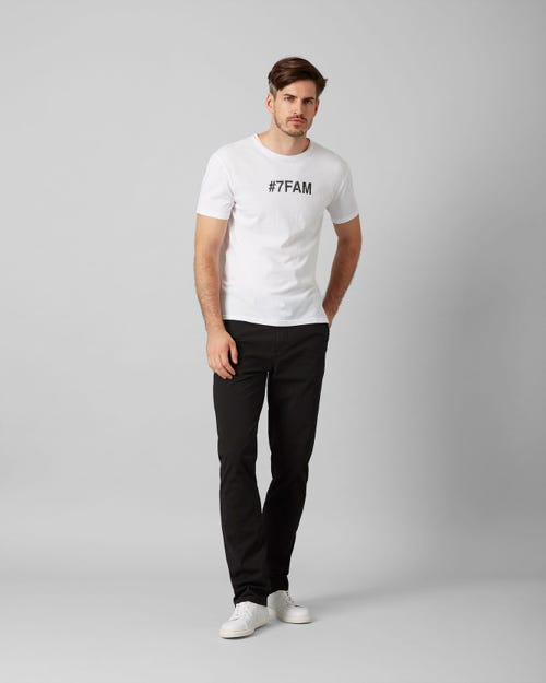 7 for all Mankind - SLIMMY CHINO ULTRA LIGHT WEIGHT COLORS BLACK
